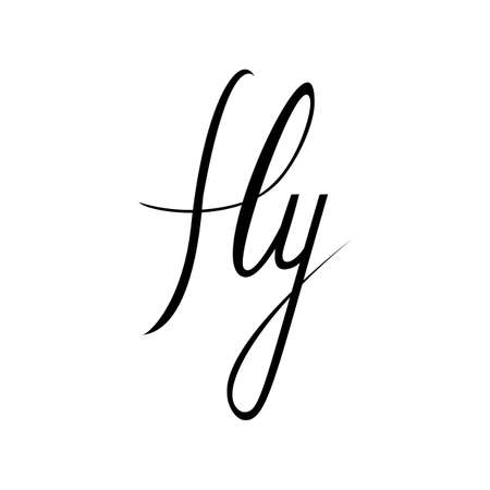 Fly. Inspirational quote about happy. Modern calligraphy phrase. Lettering in boho style for print and posters. Hippie quotes collection. Typography poster design. Stock Illustratie