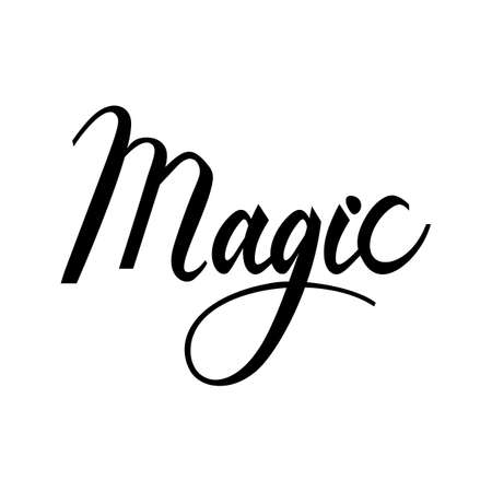 faerie: Magic lettering text. Modern calligraphy style illustration.