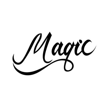 Magic lettering text.
