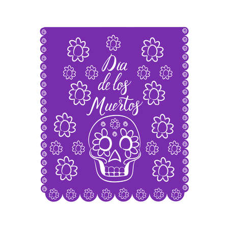 Dia de los Muertos. Mexican Day of the death spanish text decoration Illustration