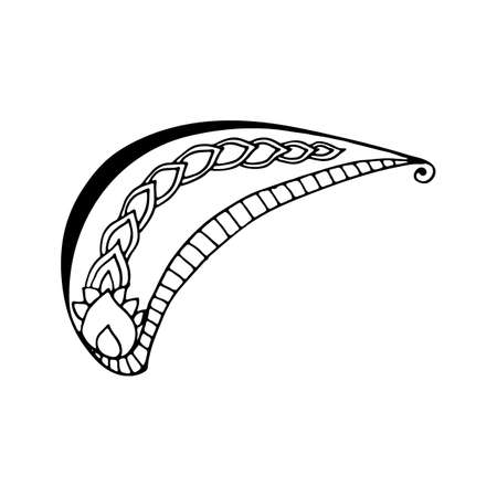 Pattern in style hand draw, doodle, zentangl, Indian sign on a white background Ilustração