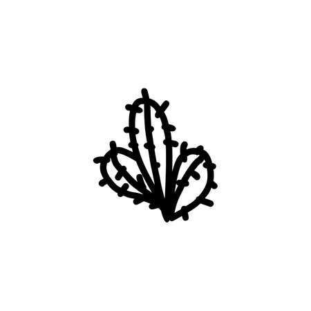 Cactus hand drawn icon.