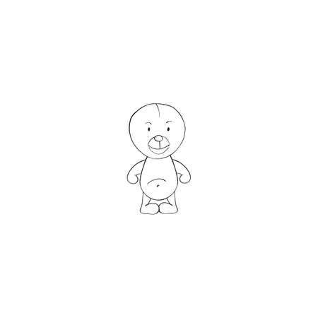 Sloth cartoon icon isolated on white background
