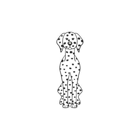 Dalmatian dog cartoon dog icon isolated on white background