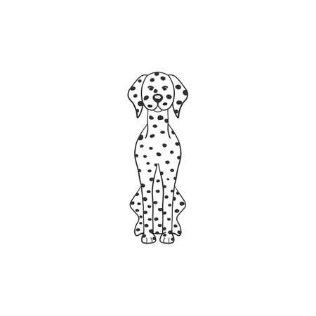 Dalmatian dog cartoon dog icon isolated on white background