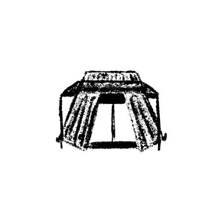 Tent icon vintage isolated on white background