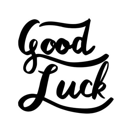 Good Luck word lettering isolated on white background