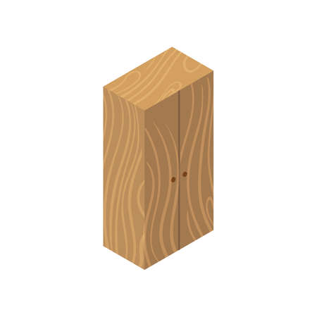 Cupboard isometric icon isolated on white background
