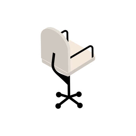 Office chair isometric icon isolated on white background