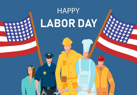 People group different occupation set, International Labor Day flat vector