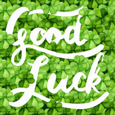 Saint patrick day with the word good luck background Banque d'images - 124599114