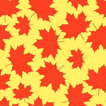 seamless pattern of autumn leaves of trees and oak and maple Stockfoto - 127905033