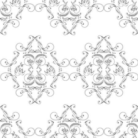 Vintage seamless pattern. Floral elements for design monograms, invitations, frames, menus and labels.