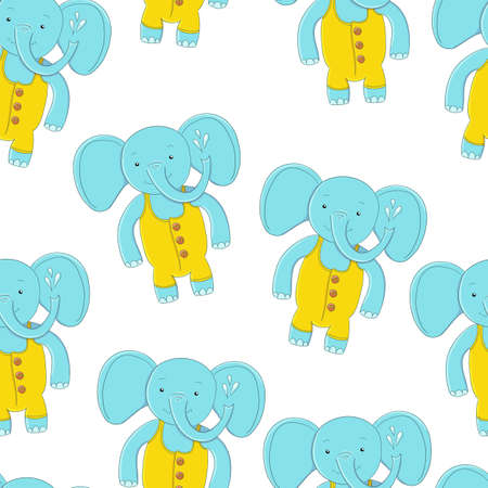 seamless pattern Cute elephant. fashion illustration for children