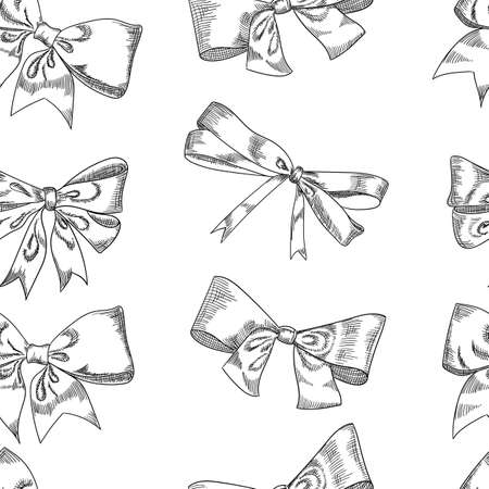 Bow sketch isolation on a white background Illustration