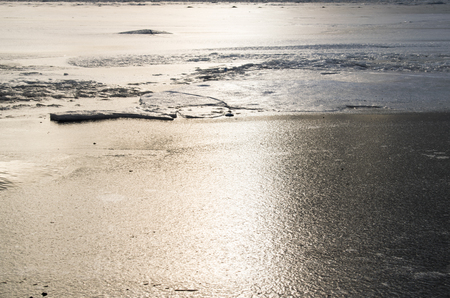 freezing on the river Stok Fotoğraf