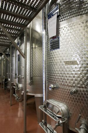 vinery: modern vinery in Italy in the land of barolo
