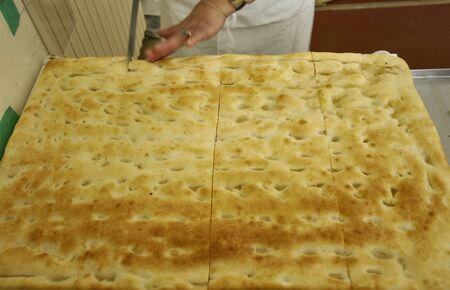 genoese: typical ligurian genoese cake and original italian food Stock Photo