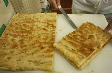 genoese: typical ligurian and genoese salt cake original italian food
