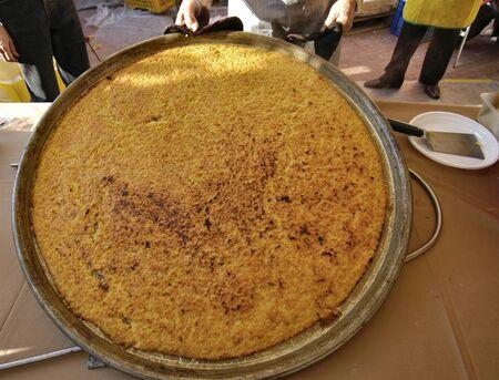 genoese: genuine italian food genoese cake made with chickpeas flour porridge named