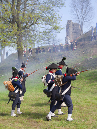commemoration: napoleonic battle commemoration in Italy on original site of Cosseria in 1796