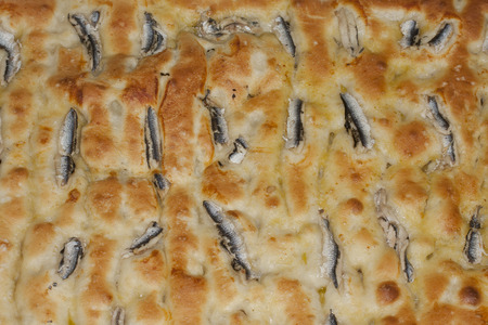 greediness: focaccia with anchovies, new type of ligurian focaccia