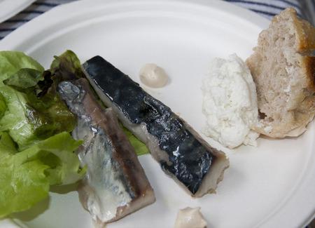 sauces: mackerel fillet with various sauces