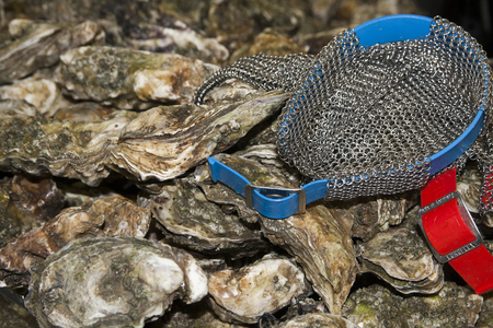 70 s: natural oysters Stock Photo