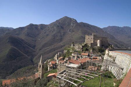 hinterland: typical hinterland ligurian village in Italian country
