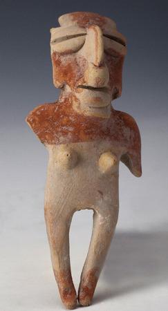 anthropomorphous: anthropomorphic figure in argil or clay, ancient art of ecuador