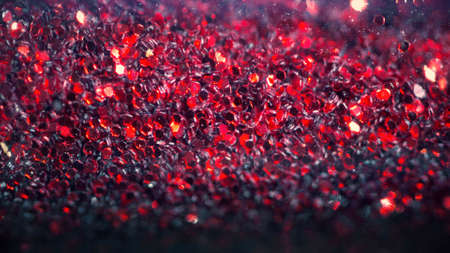 Bokeh lights sparkle, abstract shining background red texture, colorful and bright, happy, love, emotional Stock Photo