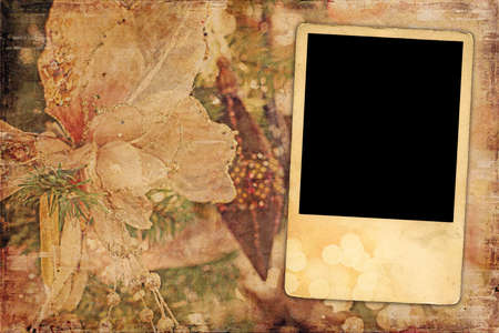 antiqued: Blank Picture Christmas Abstract Background  Stock Photo