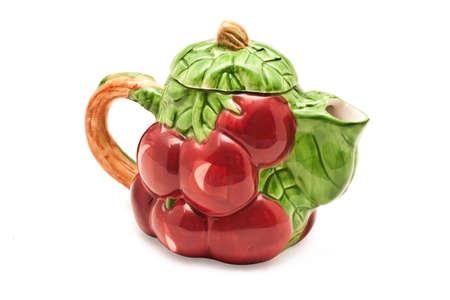 Teapot isolated on white photo