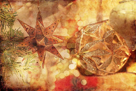 antiqued: Christmas Background Vintage Style