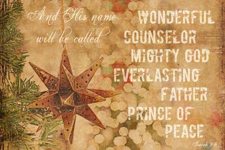 isaiah: Christmas Background Isaiah 9 6  Stock Photo