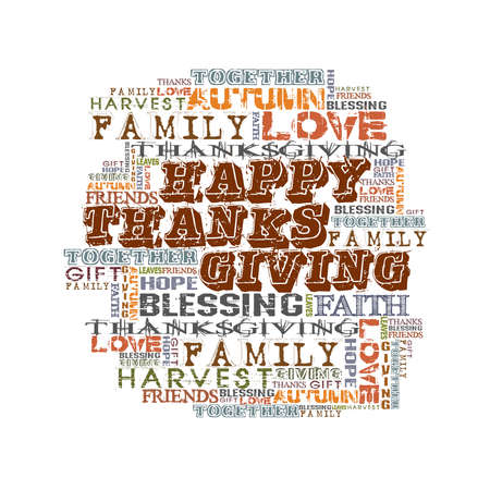 Happy Thanksgiving  Words isolated on white