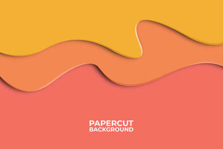Abstract wave background with paper cut shapes, web banner design, discount card, promotion, flyer layout, ad, advertisement, printing media. Foto de archivo - 138044188