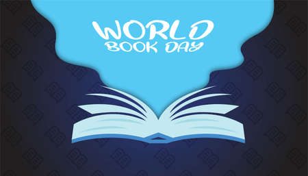 World book day background template.