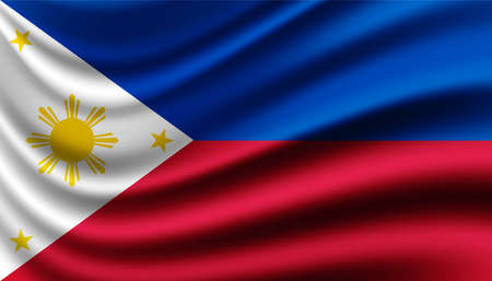 Flag of Filipino background template.