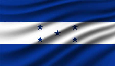 Flag of Honduras background template.