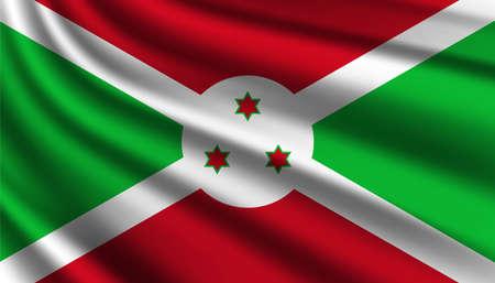Flag of Burundi background template.
