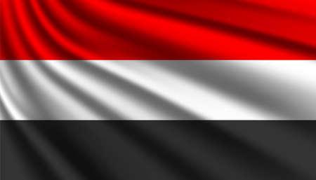 Flag of Yemen background template.