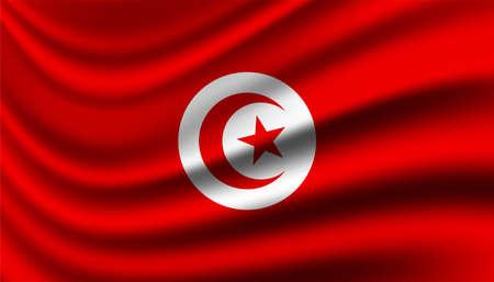 Flag of Tunisia background template. Vettoriali