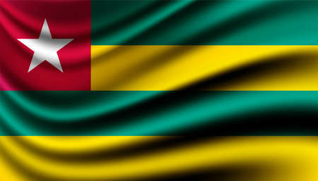 Flag of Togo background template.