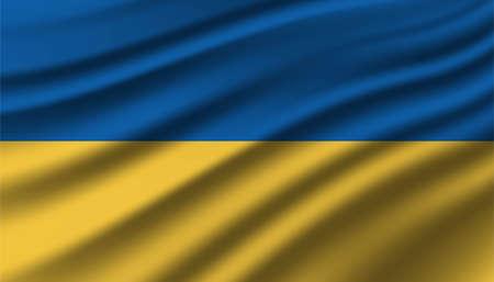 Flag of Ukraine background template.
