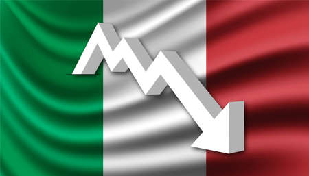 Italy crisis and recession background template.