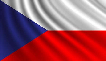 Flag of Czechoslovakia background template. 向量圖像