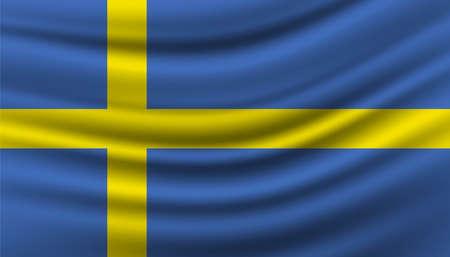 Flag of Sweden background template. Vector Illustratie