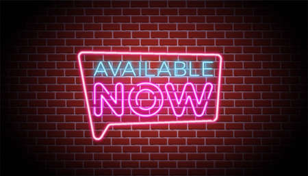 Available  neon sign background wall template. Archivio Fotografico