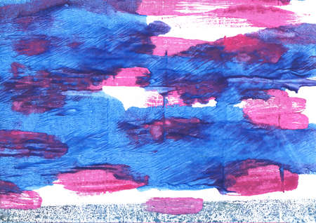 Hand-drawn abstract watercolor. Used colors: White, Blueberry, Blue Jeans, Bleu de France, Han blue, Royal blue, Tufts Blue, Dark slate blue, Princess Perfume, Cyber grape